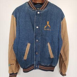 Vintage // Dunbrooke denim varsity letterman
